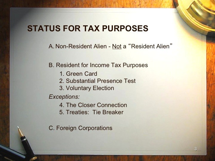 Tax Planning for Foreign Investors