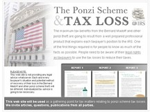 Ponzi Scheme Tax Loss