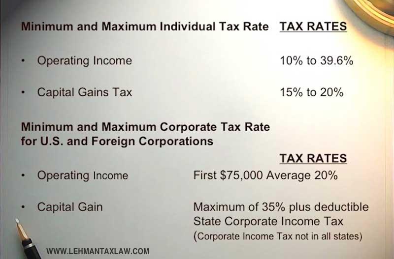 Richard S Lehman discusses tax techniques for foreign investors